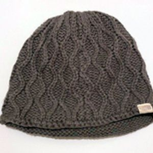 Grey Knit North Face Beanie